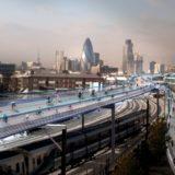 ロンドンの鉄道の上に全長220kmの自転車専用道路を建設する「SkyCycle」計画