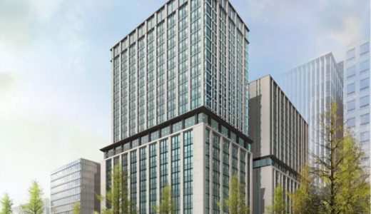 御堂筋の規制緩和後の新基準を適用した伏見町三丁目地区(三菱東京UFJ銀行建替え)の最新の完成予想パース