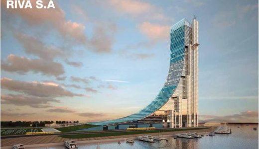 アルゼンチンに建設される南米一の超高層ビルは、まるでスノボのクウォーターパイプのジャンプ台!