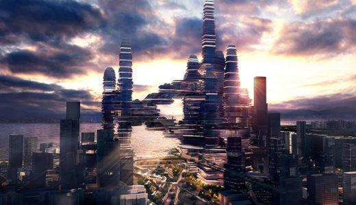 深セン湾超級城市(Shenzhen Bay Super City )開発コンペで優勝した「Cloud Citizen(雲の上の人)」が未来すぎる!
