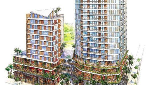 沖縄牧志一丁目3番地地区市街地再開発事業は、高さの異なる二つのビルからなる「ダブルタワー」になる事が判明!