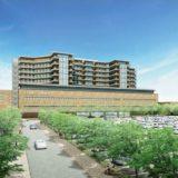 医療養環境と看護動線を重視したツインクロス型病棟を採用!新石川県立中央病院の建設状況 1605