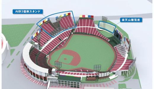 「楽天Koboスタジアム宮城」を改修、約5000席を増設し収容人数は28000人まで拡大!