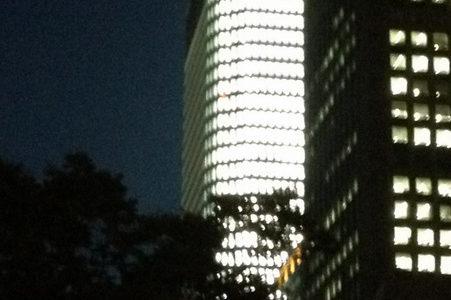 中之島フェスティバルタワーの試験点灯が始まる!