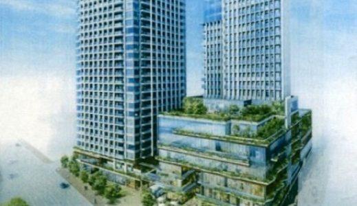 JR岡山駅東口で計画中の岡山市北区駅前町1丁目地区再開発事業の概要は24階建てのホテル棟と28階建ての住宅棟のツインタワー計画!