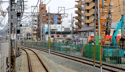 阪神本線-住吉・芦屋間連続立体交差事業-深江駅 11.03