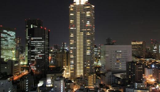 ホテル阪神から見た福島付近、中之島西部の眺め