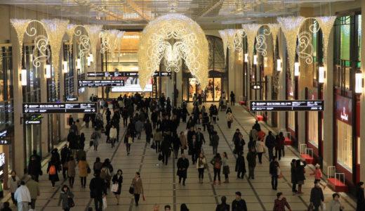 クリスマスイルミネーション-梅田阪急編