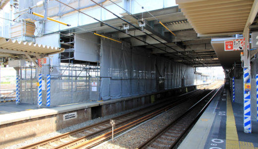 JR京都線-岸辺駅橋上駅舎化 11.06