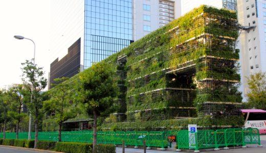 新梅田シティの巨大緑化モニュメント「希望の壁」 13.10