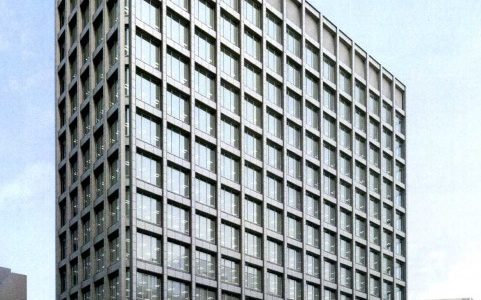 (仮称)阪和興業大阪本社ビル新築工事の状況