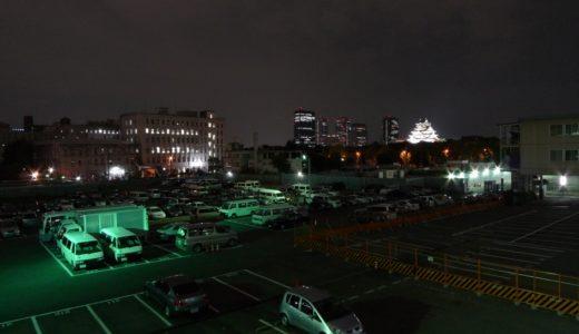 夜の大阪城周辺