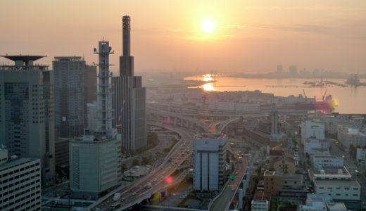 早朝の港町