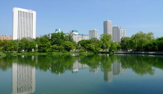 中島公園周辺のビル群