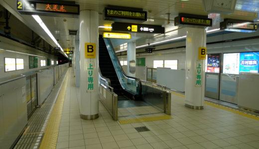 大正駅の可動式ホーム柵