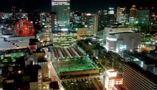 Night view of Umeda, Osaka 10.10
