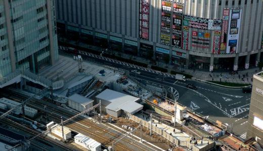 大阪駅北側歩道橋の美装化工事