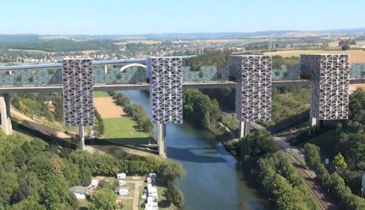 既存の橋の橋脚に建物をプラス!?ドイツ・リンブルフの驚きのプロジェクト