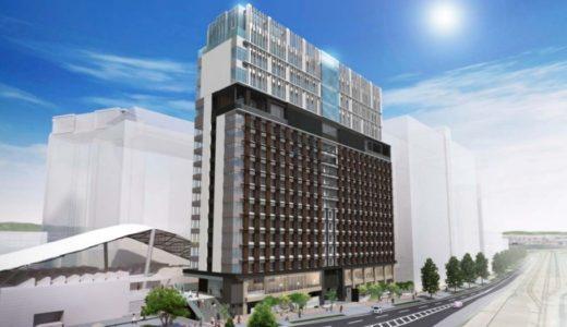 ユニバーサルシティ駅前プロジェクト(カンデオホテルズ及びBrillia)の建設状況 16.04
