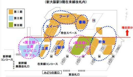 エキマルシェ新大阪の3期部分開業は12月21日に決定!JR西日本の改札内駅ナカ施設としては最大となる全36店舗がグランドオープン