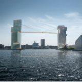 港を跨ぐ高さ65メートルの自転車・歩道により連結されたコペンハーゲンの高層ビルがカッコイイ!