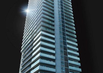 ブランズタワー御堂筋本町の建設状況 16.05