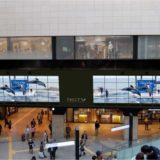 南海難波駅「なんばガレリア」に国内の駅設置としては最大級のデジタルサイネージ「NAMBA GALLERIA TWIN VISION」が登場!