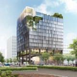 博多都ホテル 建替え計画が具体化!(仮称)近鉄博多ビル計画概要が判明、高層部の緑化&壁面の滝の様な演出が凄い!