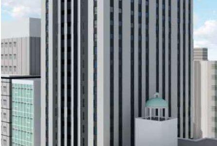 御堂筋に新たな大型ホテル計画が浮上!ザ・ビー 大阪心斎橋(仮称)は地上21階、延床約 10,700 ㎡ 、客室数309室の規模で出店!