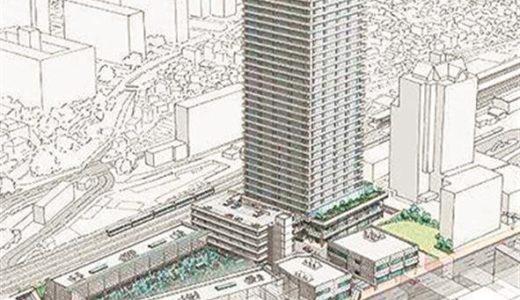 阪神間エリアで久々の超高層ビル案件が浮上、西宮卸売市場再開発の店舗・住宅棟は地上37階建ての超高層ビル!