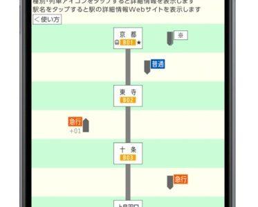 近鉄アプリがバージョンアップ。近畿圏の民鉄初となる「列車走行位置」提供サービスが6月1日(木)よりスタート!