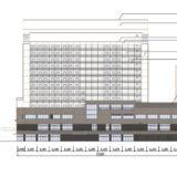 (仮称)ホテルモントレ姫路が入居する(仮称)マルイト姫路ビルの建設状況 16.04