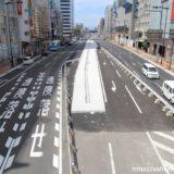 天王寺駅前の東西軸ー尼崎平野線工事の状況 16.09