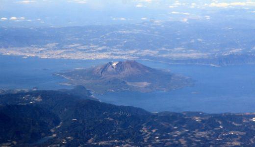 上空から見た桜島