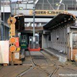 役割を終えた、旧天王寺駅前停留所と旧線の様子 16.12