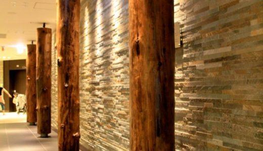 阪急うめだ阪急本店の13階レストランフロアにある旧本店を約80年以上も支えた基礎松杭を愛でる