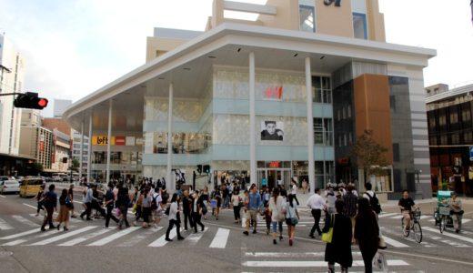 片町ラブロ跡の再開発「片町きらら」の商業施設部分が2015年9月18に先行開業!北陸初のH&M、金沢初出店のロフトなどが出店!