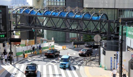 2本目のヨドバシ橋(Bデッキ)が一気に架設される!ヨドバシ梅田とグランフロント大阪を接続する「Bデッキ」の建設状況 17.08-2