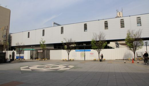 南海本線ー高石駅高架化工事の状況 1604
