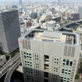 中之島フェスティバルタワーの最上階にある「ラ・フェットひらまつ」から見た大阪都心の眺め Part2