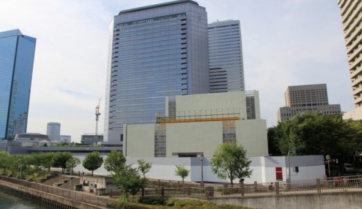読売テレビが跡地に新社屋を計画している「シアターBRAVA!」の解体工事の状況 16.07