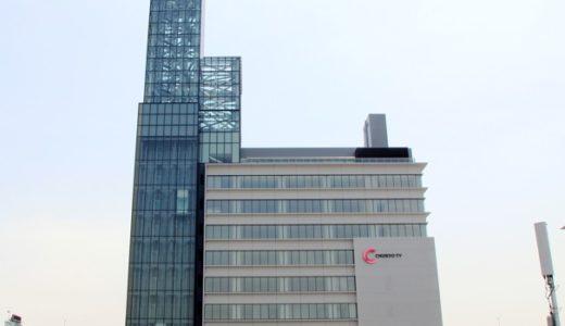 ささしまライブ24地区東街区で工事が進む「中京テレビ放送新社屋」16.05