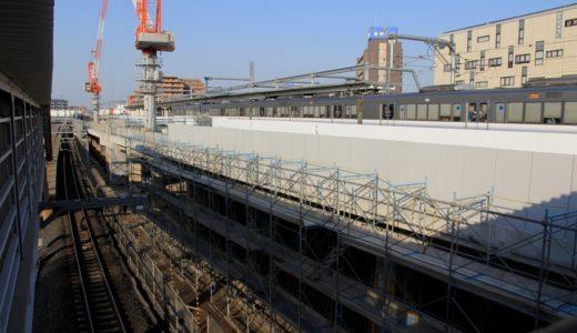 JR阪和線-東岸和田駅高架化工事の状況 16.04