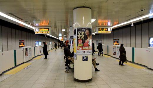 京都市営地下鉄ー烏丸線に設置された可動式ホーム柵(ホームドア)の状況