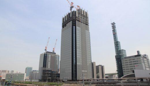 ささしまライブ24地区内複合施設「グローバルゲートWESTタワー」の建設状況16.05