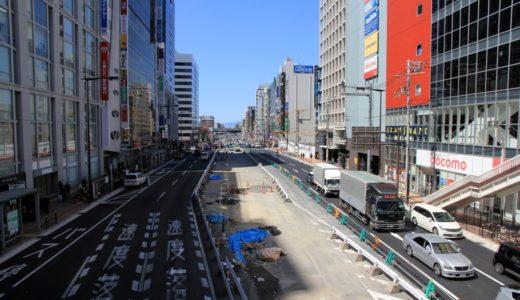 天王寺駅前の東西軸ー尼崎平野線工事の状況 16.03