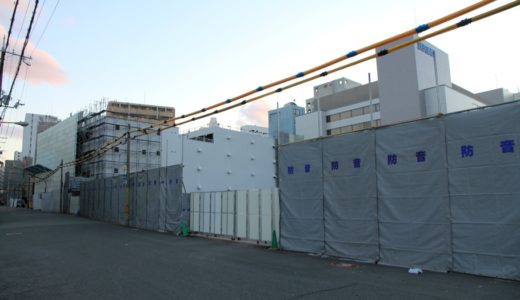 扇町公園近くに建設されるタワーマンション(仮称)大阪扇町計画新築工事の状況 16.02