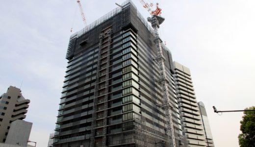 日本一の免震タワーマンション「ザ・パークハウス中之島タワー」の状況16.04