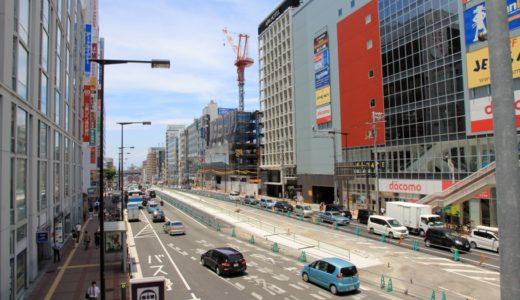 天王寺駅前の東西軸ー尼崎平野線工事の状況 16.07