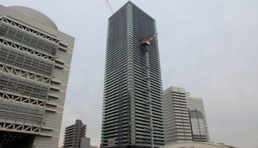 日本一の免震タワーマンション「ザ・パークハウス中之島タワー」の状況17.03